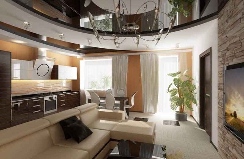 Дизайн кухни в частном доме 20 квм