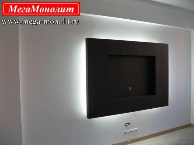 Рамка для телевизора на стену из гипсокартона своими руками