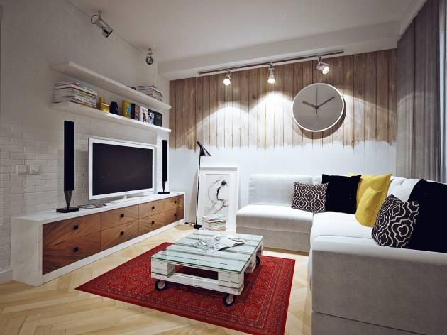 Гостиная в скандинавском стиле фото